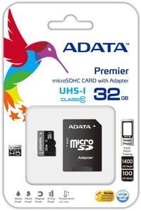 ADATA 32GB MicroSDHC with Adaptor (Class 10)