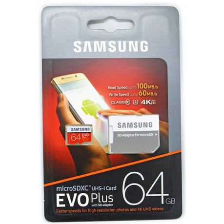 Samsung EVO Plus 128GB MicrosdXC Class 10 with Adapter