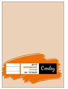 Croxley A6 Notebook (72 Page/Feint Ruled)(JD115)