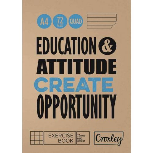 Croxley Exercise Book A4 32pg Quad & Margin (JD328CQM)