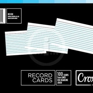 Croxley Record Cards 102x152mm (JD638)