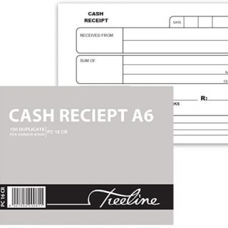 Treeline Cash Receipt Carbon Book A6 DUP (PC16CR)