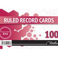 Treeline Ruled Record Cards 76x127mm 100's (BS 76)