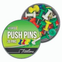 Treeline Push Pins (30's) Assorted Colours